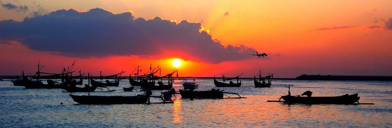 coucher du soleil à jimbaran